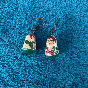 small pair of Russian Doll Dangling Earrings